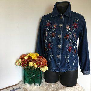 Keren Hart Vintage Floral Denim Jacket